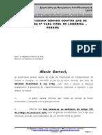 Alecir Sartori x Nelson  Padovani x Interesse na audiência de conciliação