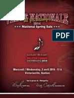 Sale Catalog - Vente Nationale