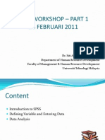 Introduction to SPSS 1