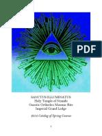 Sanctus Illuminatus 2014 Catalog of Classes