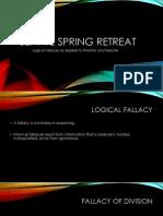 Senate Spring Retreat Logic Lesson