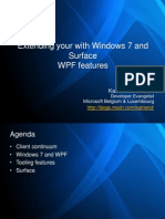 Windows7 and Surface Features