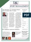 MBA in Sport Management Spring 2014 Newsletter