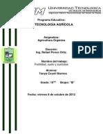 Fertilidad,Sueloy Sustratos Agricultura Organica