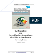 Guide Pratique Certificat Energetique Des batiments Existants