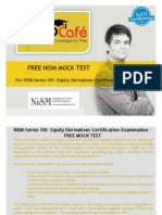 FREE NISM Mock Test - NISM Series VIII Equity Derivatives Certification Examination. NISM Study Material and NISM Workbooks are also available at www.PrepCafe.in free of cost.