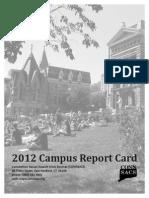 CONNSACS' 2012 Campus Report Card