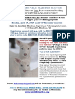 2014 Wisconsin DNR Spring Meeting Announcement (2 White Deer Poster)
