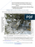 2014 Wisconsin DNR Spring Meeting Announcement (Trapping Poster)