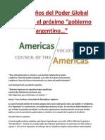 """Los Dueños del Poder Global preparan el próximo """"Gobierno Argentino...""""-  por Adrian Salbuchi"""