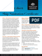 Ship Sanitation Cert