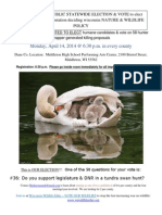 2014 Wisconsin DNR Spring Meeting Announcement (Tundra Swan)