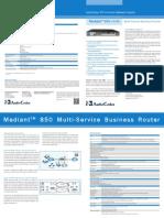 Mediant 850 MSBR Datasheet