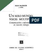 UNESCO Informe MacBride 1980