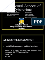 behavioral aspect of cyber crime