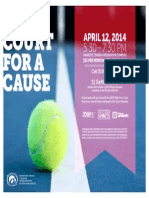On Court for a Cause Flier 2014
