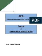 APOSTILA AFO - TEORIA E EXERCÍCIOS DE FIXAÇÃO_Amostra