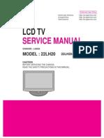 9619 LG 22LH20 Chassis LA92A Televisor LCD Manual de Servicio