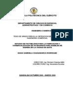 Estudio de Factibilidad Para La Fabricacion y Comercializacion de Accesorios Para Muebles de Madera