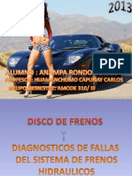 Disco de Frenos Diagnostico