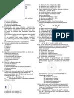 Lista - prop da materia - atomistica - prop periódicas