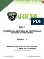 BLOCO 1 - QUESTÕES DE ACENTUAÇÃO GRÁFICA  e ORTOGRAFIA – ESAF_Amostra