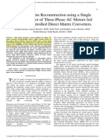 Phase Currents Reconstruction Using a Single Current Sensor of Three-Phase AC Motors Fed by SVM-Controlled Direct Matrix Converters.
