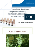 10ma. Clase de Farmacognosia Aceites Esenciales
