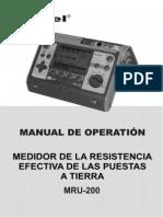 Manual Telurometro Sonel MRU 200