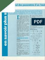 calcul des paramétres d'un Haut-Parleur