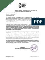 Frente Nuevo León - Contra discriminación a ACODEMIS A.C. en el Congreso