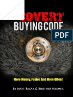 The Covert Buying Code