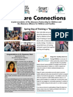 Spring 2014 Newsletter for the Alamance Partnership for Children and the Alamance Alliance for Children and Families.