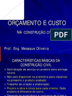 Orcamento e Custo 2 Aula Do 2 Bimestre