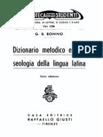 Bonino - Dizionario Metodico e Fraseologia Della Lingua Latina