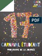 Programme du Carnaval Étudiant de Caen 2014