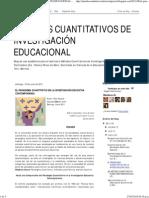 MÉTODOS CUANTITATIVOS DE INVESTIGACIÓN EDUCACIONAL_ EL PARADIGMA CUANTITATIVO EN LA INVESTIGACIÓN EDUCATIVA CONTEMPORÁNEA