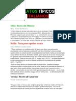 PLATOS TÍPICOS ITALIANOS