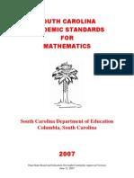 2007 Mathematics Standards