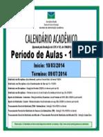 Cartaz Cal Matricula 12014