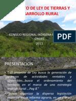 Proyecto de Ley de Tierras y Desarrollo
