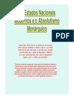 Aula 1 - Absolutismo Monarquico