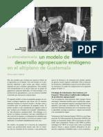 La Etnoveterinaria Un Modelo de Desarrollo Agropecuario en El Altiplano de Guatemala.