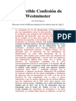 La terrible Confesión de Westminster