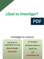 Qué es Investigar