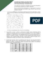 1ª Lista de Exercícios Hidrologia 2013.2