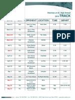 track schedule 2014