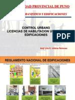 Licencias de Edificacion y Habilitaciones Urbanas