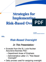 Risk-Based Oversight