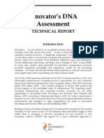 The Innovator's DNA - Technical Report